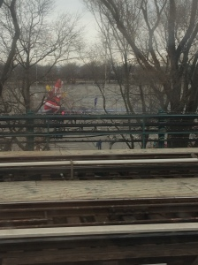 View of Santa from the 7 train