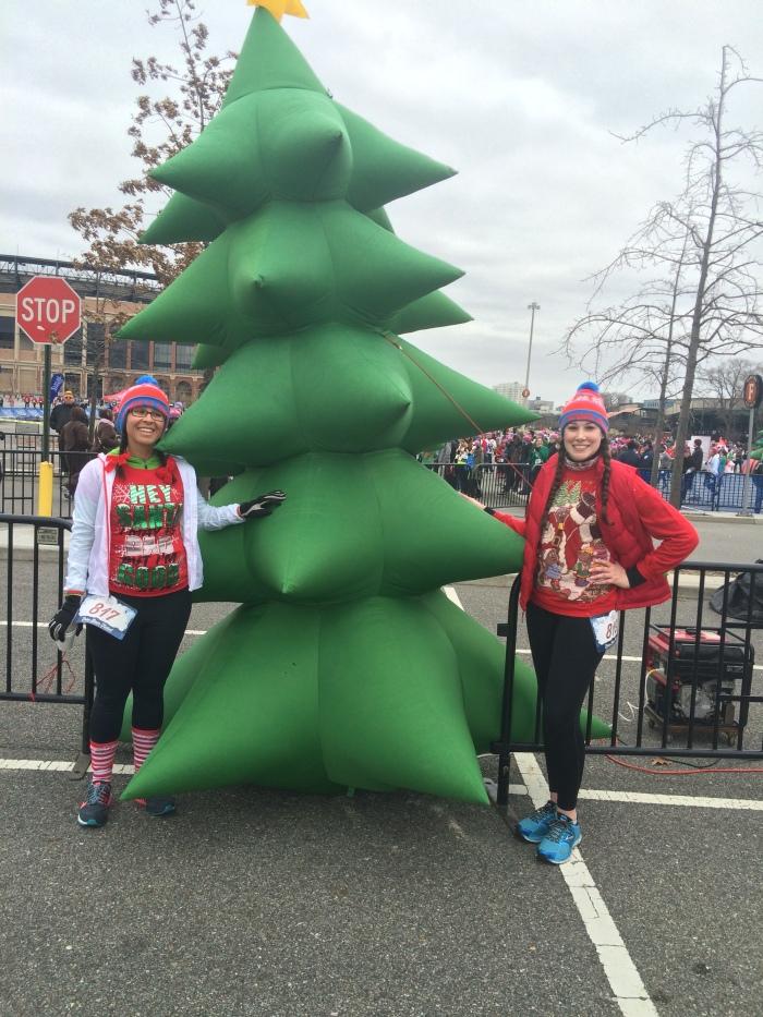 Cheery tree near the finish line!